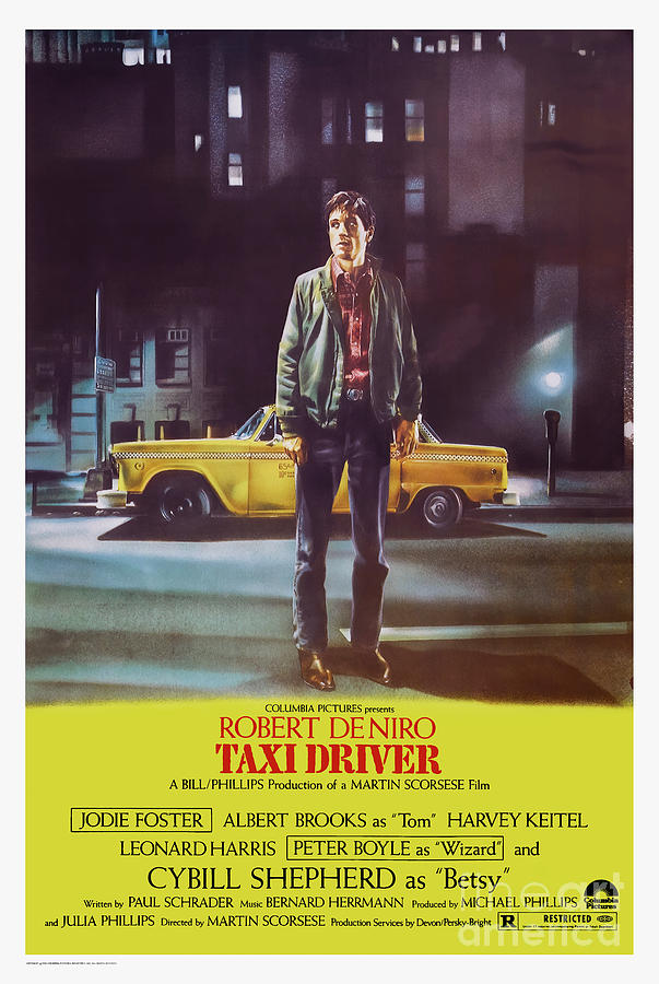 Taxi Driver 1976 - Travis Bickle Poster by Kultur Arts Studios