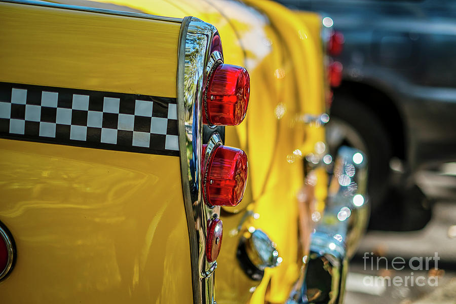 Taxi Tail Light, New York City, New Photograph by Kai Sarton