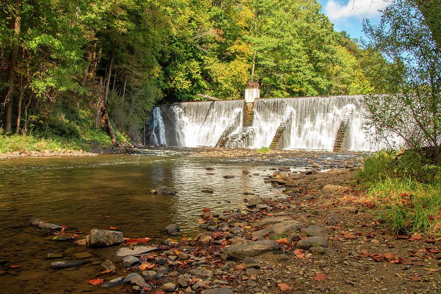 Taylor Falls At Lake Solitude by Kristia Adams