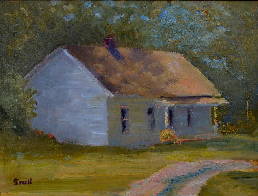 Kentucky Painting - Tays Cottage by Roger Snell