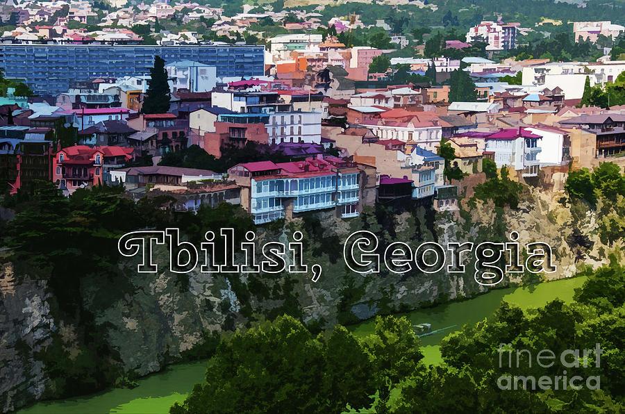 Tbilisi Cliffs above the Mtkvari River by Susan Vineyard