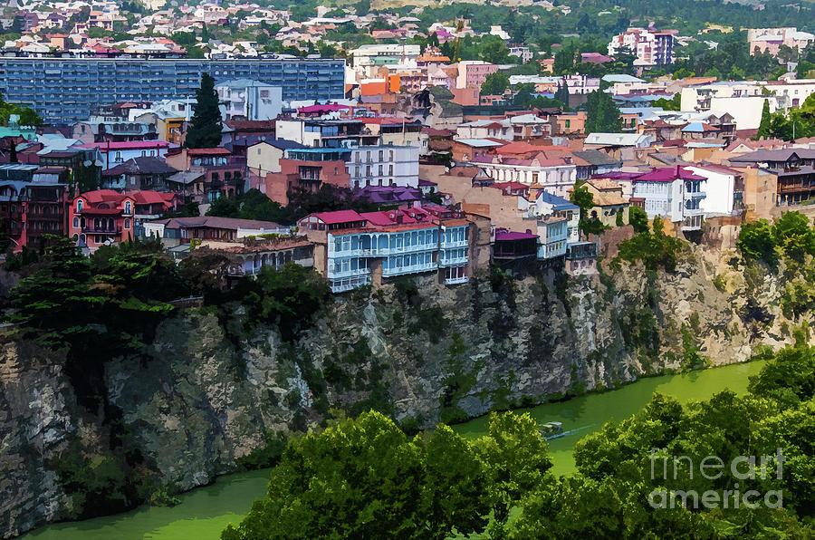 Tbilisi Cliffs Over the Mtkvari River by Susan Vineyard