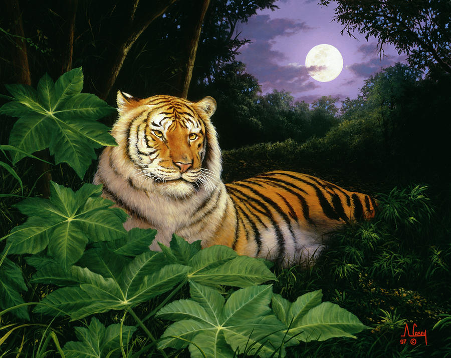 Tiger Painting - Tc2573 by Anthony Casay