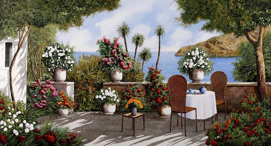 Terrace Painting - Te In Terrazza by Guido Borelli