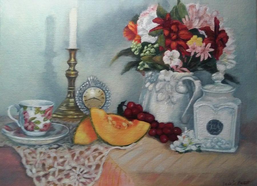 Tea and Cantaloupe by Valerie Bassett