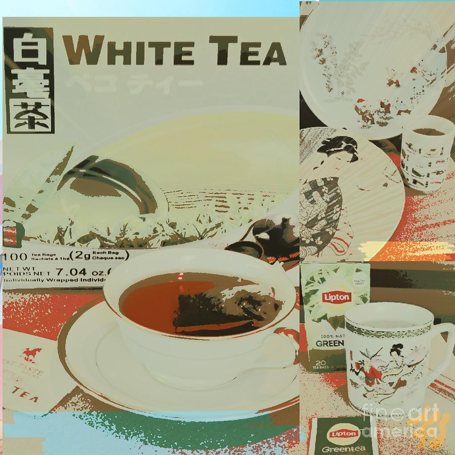 Poster Digital Art - Tea Collage Poster by Karen Francis