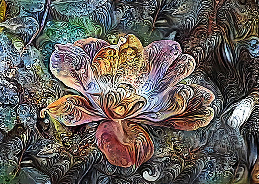Tea Rose Abstract by Sandi OReilly
