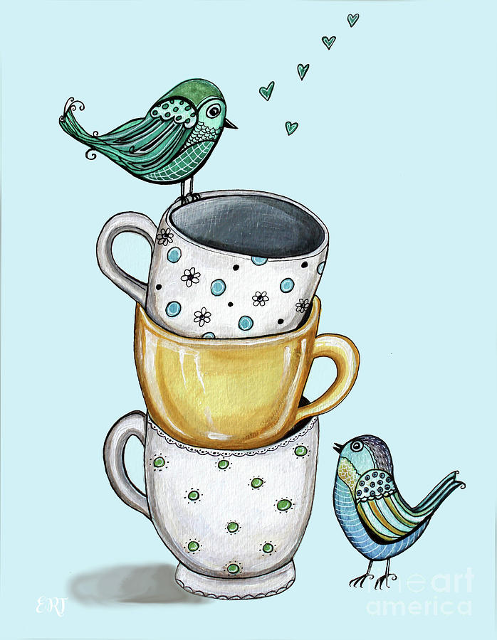 Tea Time With the Birds by Elizabeth Robinette Tyndall