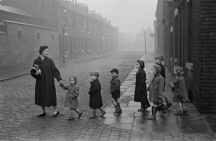 Teacher And Pupils In Manchester Photograph by Bert Hardy