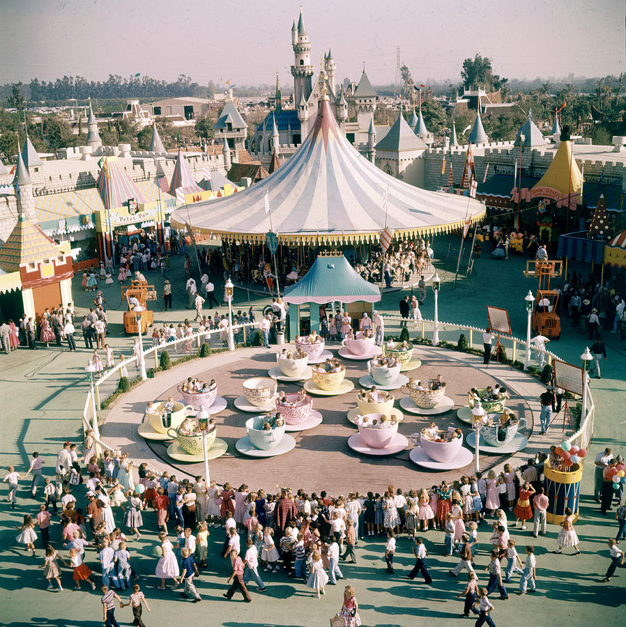 Teacups At Disneyland Photograph by Loomis Dean