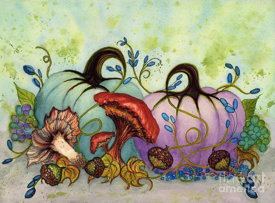 Teal and Purple Frost Pumpkin Passion by Janine Riley