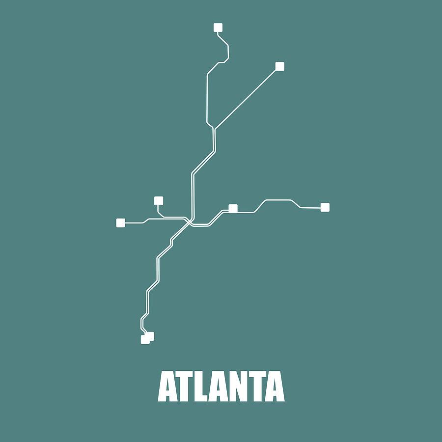 Subway Map Graphic Design.Teal Atlanta Subway Map By Naxart Studio