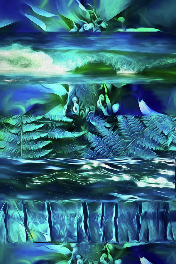 Teal Dreaming  by Cindy Greenstein