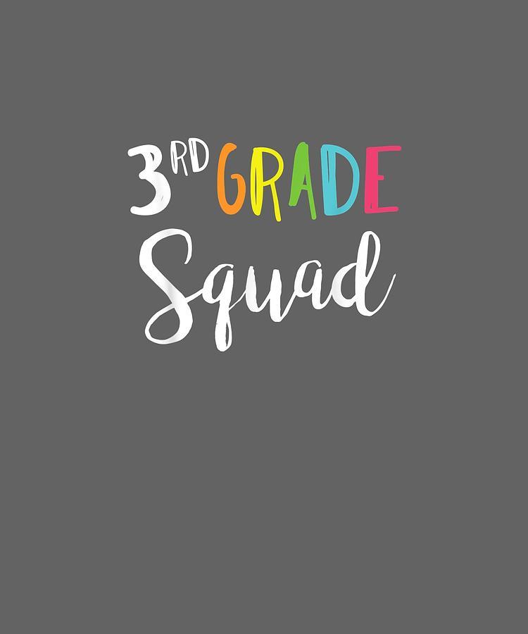 Team Digital Art - Team 3rd Third Grade Teacher Back To School Shirt Top by Unique Tees