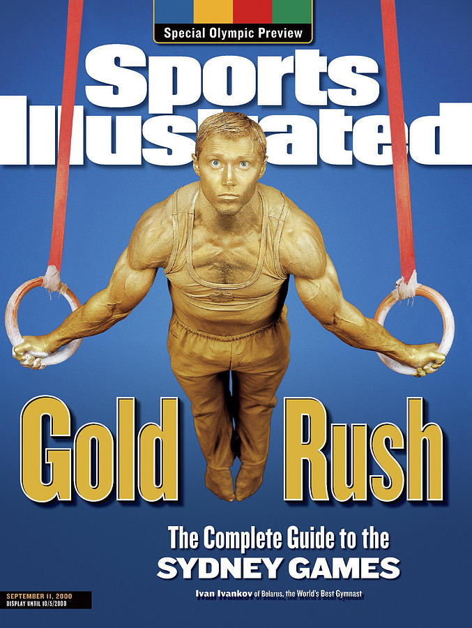 Team Belarus Gymnastics Ivan Ivankov, 2000 Sydney Olympic Sports Illustrated Cover Photograph by Sports Illustrated