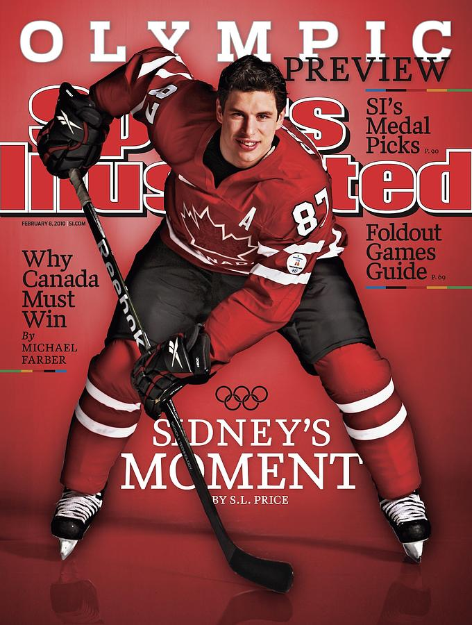 Team Canada Sidney Crosby, 2010 Vancouver Olympic Games Sports Illustrated Cover Photograph by Sports Illustrated