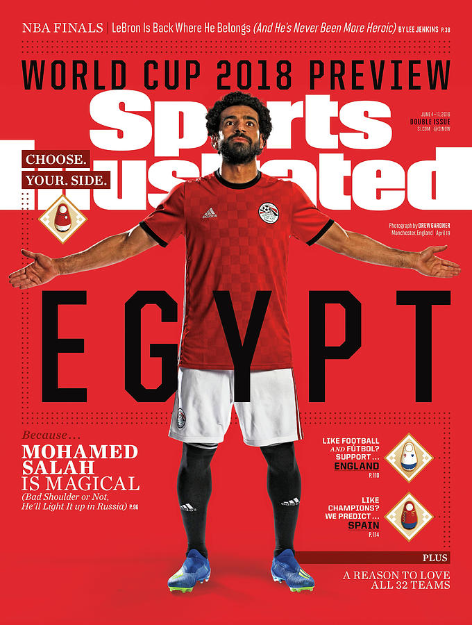 Team Egypt Mohamed Salah, World Cup 2018 Preview Sports Illustrated Cover Photograph by Sports Illustrated