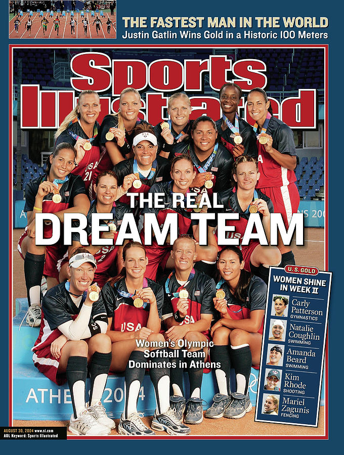 Team Usa Softball, 2004 Summer Olympics Sports Illustrated Cover Photograph by Sports Illustrated