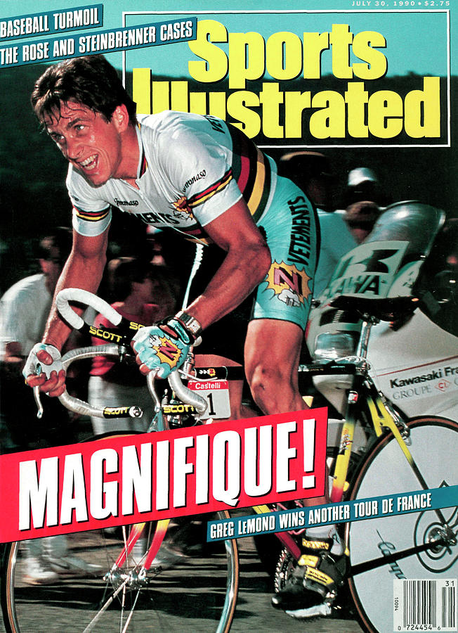 Team Z Clothing Greg Lemond, 1990 Tour De France Sports Illustrated Cover Photograph by Sports Illustrated