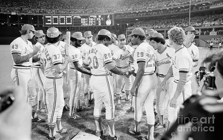 Teammates Congratulate Baseball Player Photograph by Bettmann