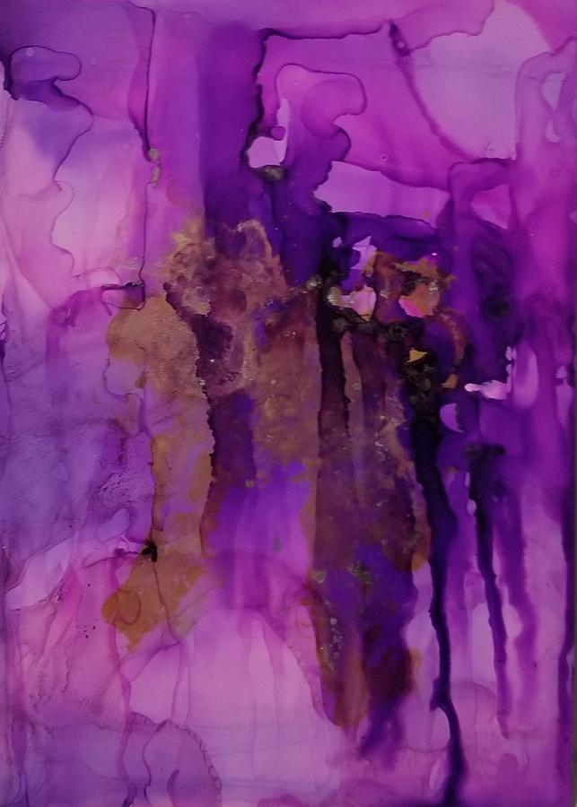 Abstract Painting - Tear In My heart by Paulina Roybal