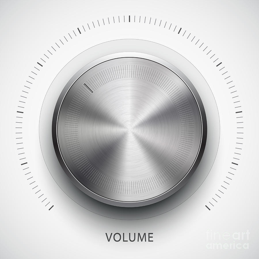 Rotate Digital Art - Technology Music Button Volume by Molaruso