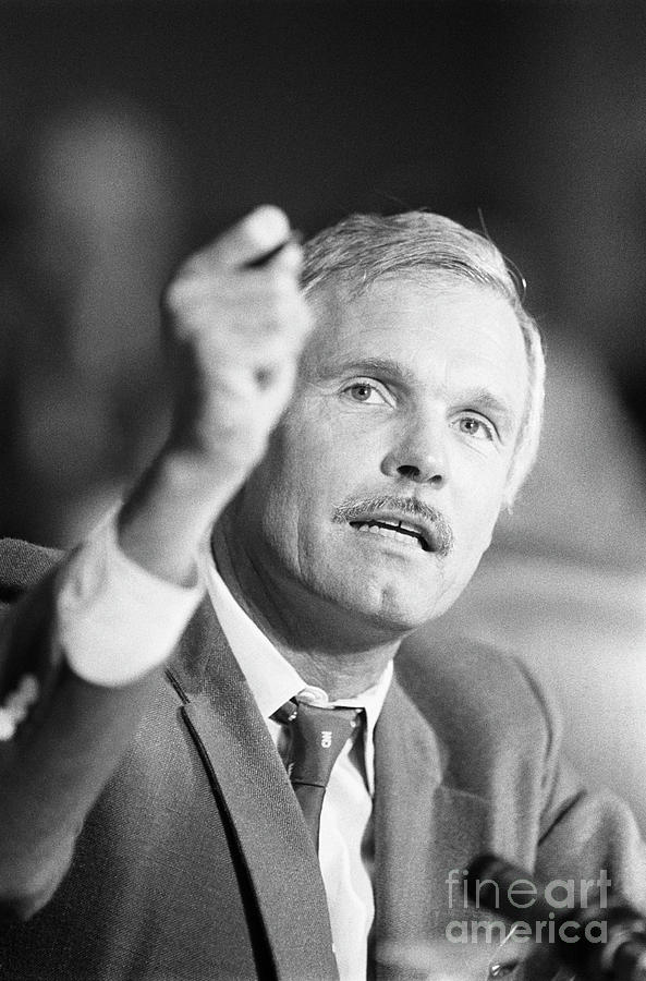 Ted Turner Photograph by Bettmann