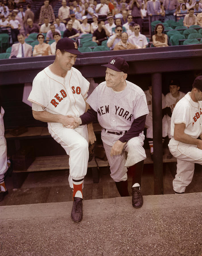 Ted Williams & Casey Stengel Photograph by Hulton Archive