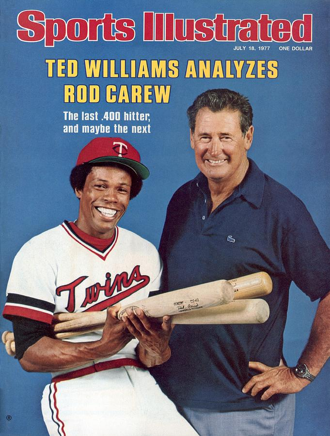 Ted Williams And Minnesota Twins Rod Carew Sports Illustrated Cover Photograph by Sports Illustrated