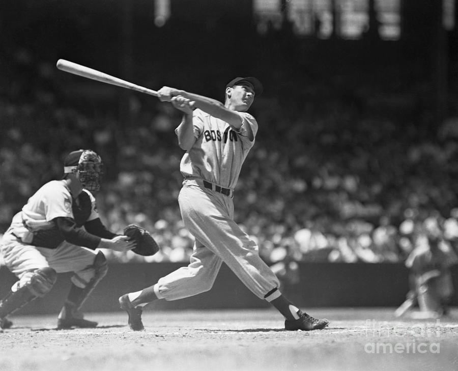 Ted Williams Making A Hit Photograph by Bettmann