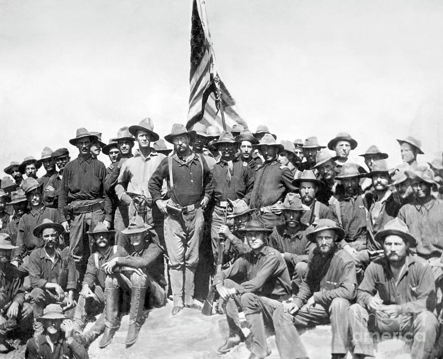 Teddy Roosevelt And His Rough Riders Photograph by Bettmann