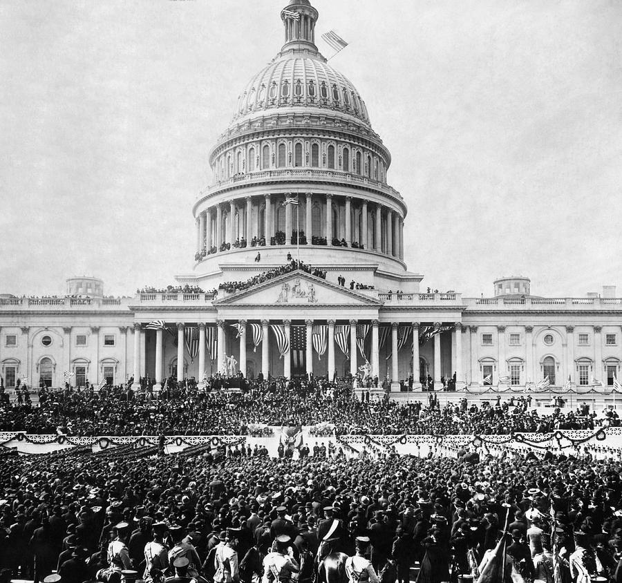 Teddy Roosevelt Inauguration - U.S. Capitol - 1905 by War Is Hell Store