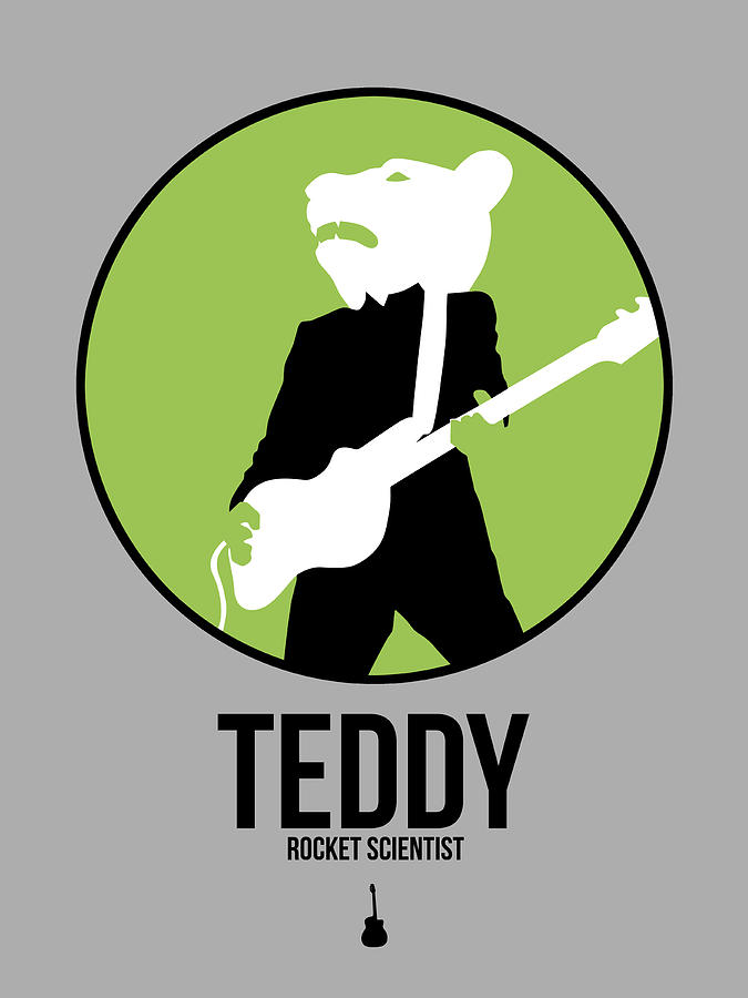 Pop Digital Art - Teddybear by Naxart Studio