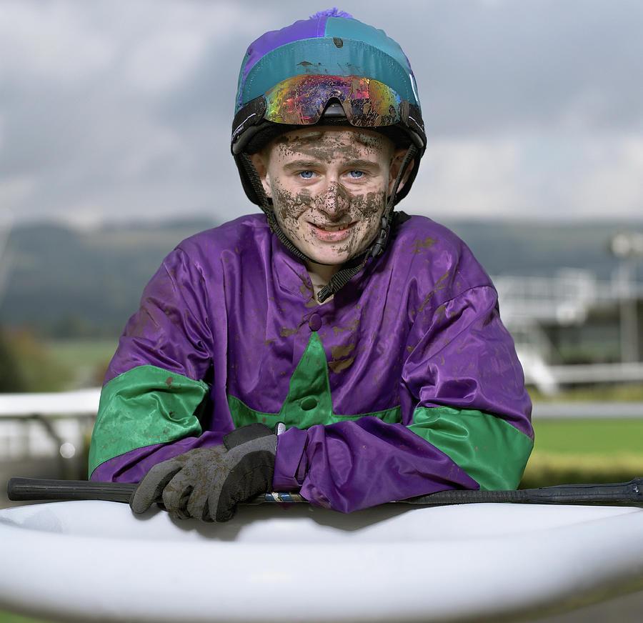 Teenage Jockey 16-18 With Dirty Face Photograph by Alan Thornton