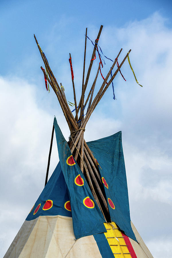 Tipi Photograph - Teepee Top - #1 by Stephen Stookey