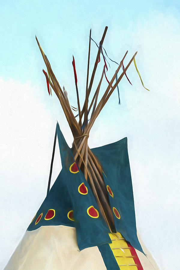Tipi Photograph - Teepee Top - #4 by Stephen Stookey