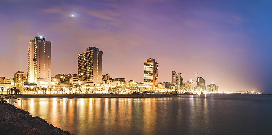 Tel Aviv Oceanfront Panorama by Mati Krimerman