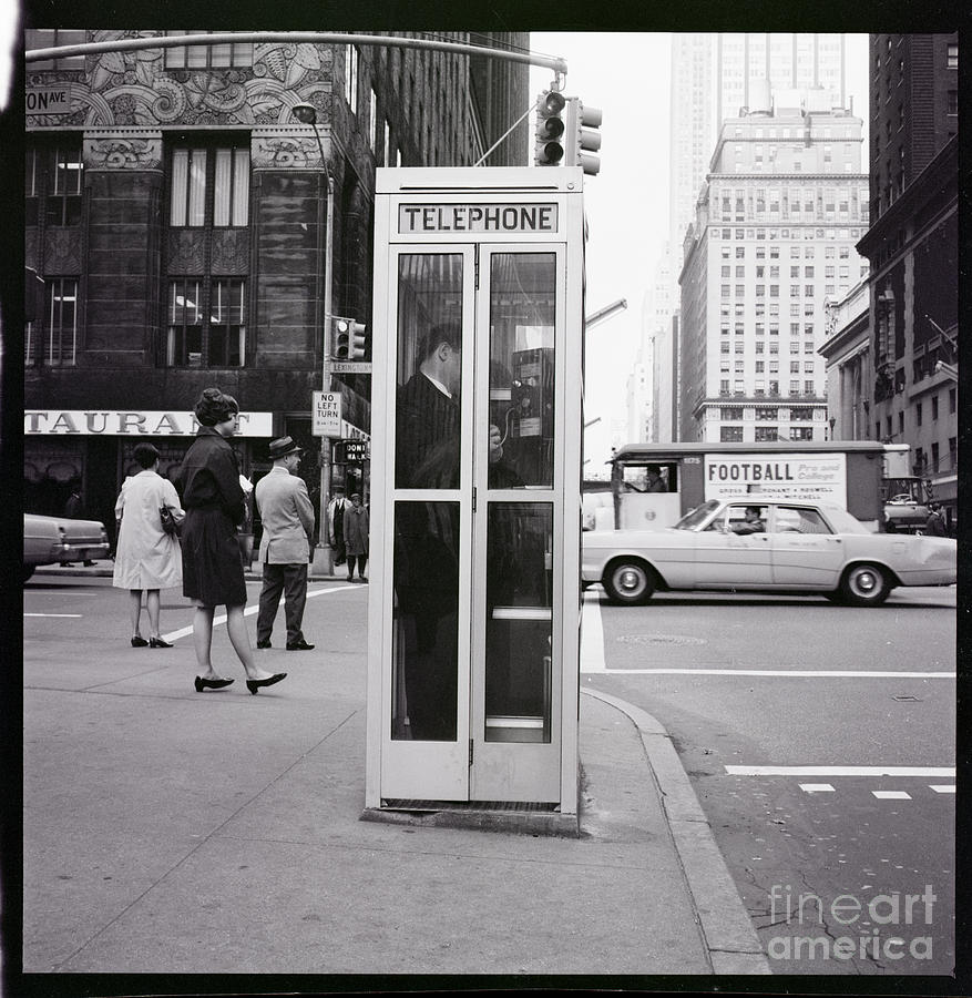 Telephone Booth At 42nd Street Photograph by Bettmann
