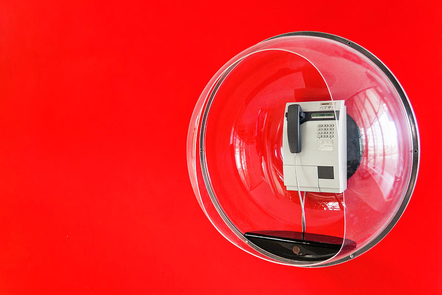 Telephone In Decorative Plastic Bubble Photograph by Manuel Sulzer