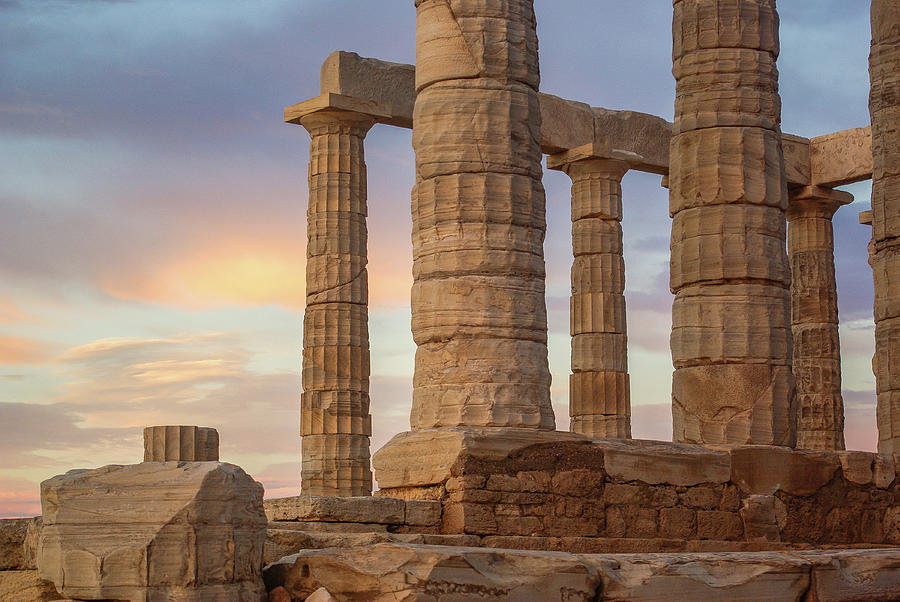 Temple of Poseidon, Cape Sounion #02 by Dimitris Sivyllis