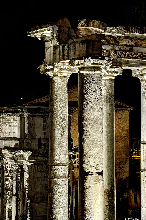 Temple of Saturn at Night by Weston Westmoreland