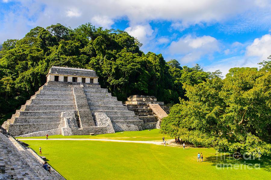 Civilization Photograph - Temple Of The Inscriptions, Palenque by Anton ivanov