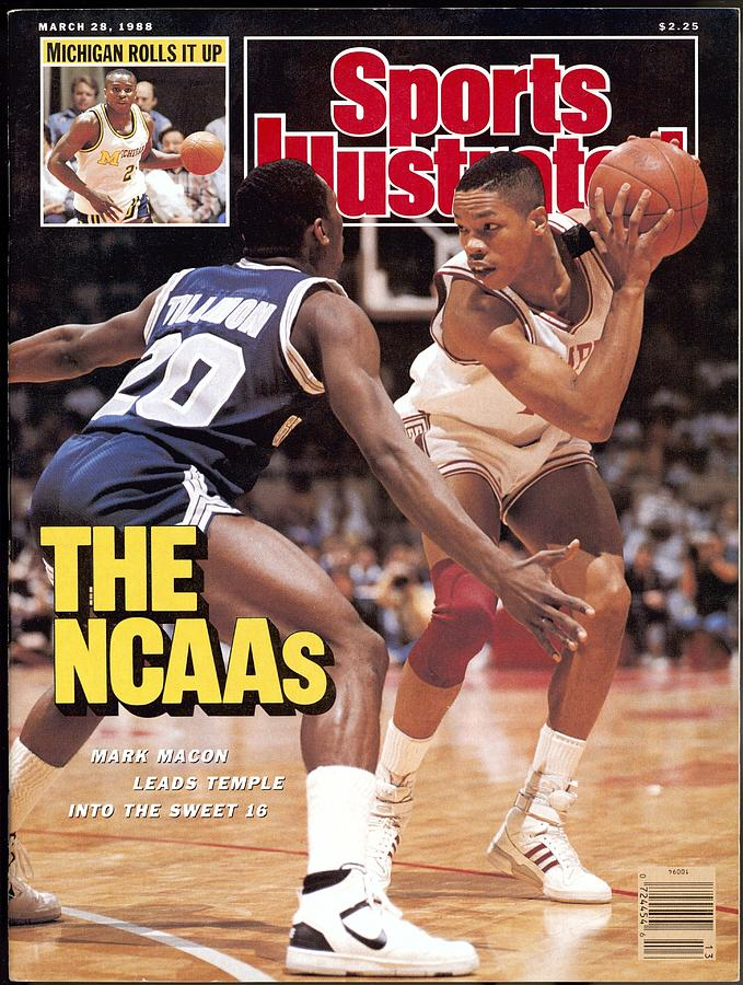 Temple University Mark Macon, 1988 Ncaa Eastern Regional Sports Illustrated Cover Photograph by Sports Illustrated