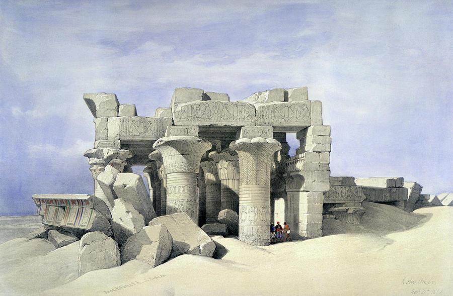 David Roberts Painting - Temples On Nile by David Roberts