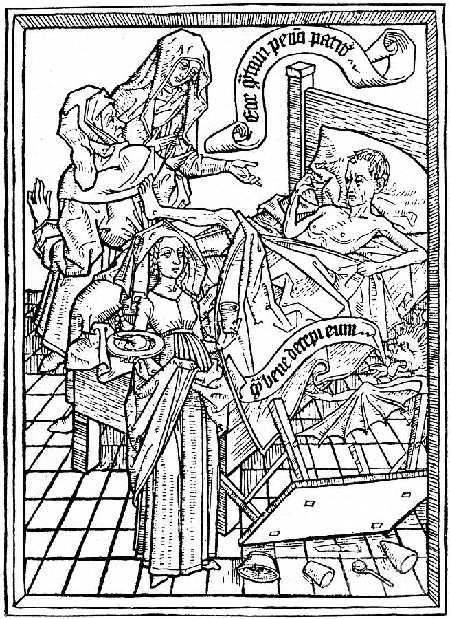 Temptation To Impatience, C1465 1964 Drawing by Print Collector