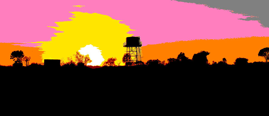 Tenant Creek Sunset - Pop Art by Lexa Harpell