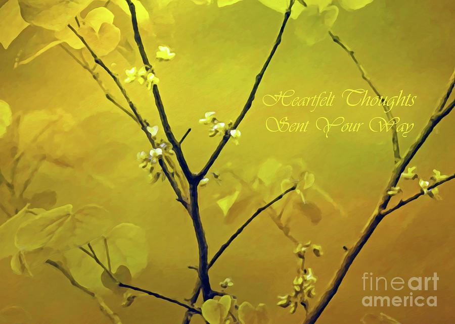 Greeting Photograph - Tender Redbud, 5x7 Heartfelt by Banyan Ranch Studios