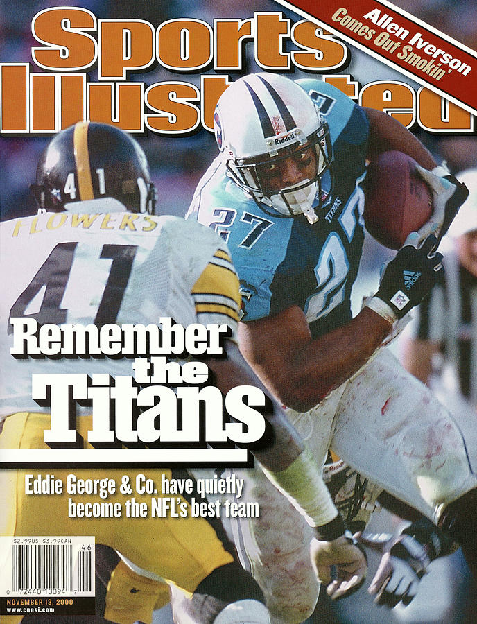 Tennesse Titans Eddie George... Sports Illustrated Cover Photograph by Sports Illustrated