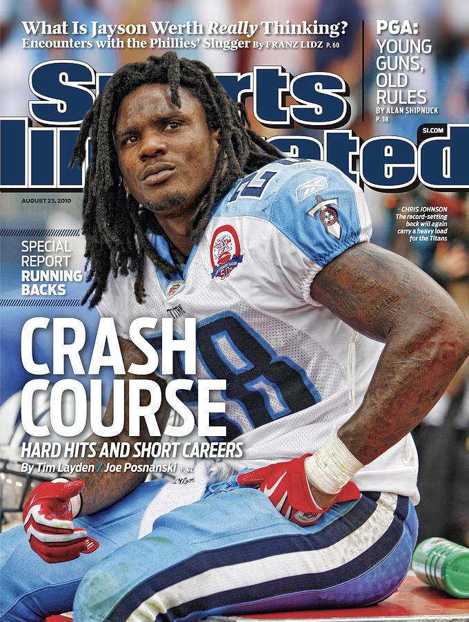 Tennessee Titans Chris Johnson... Sports Illustrated Cover Photograph by Sports Illustrated