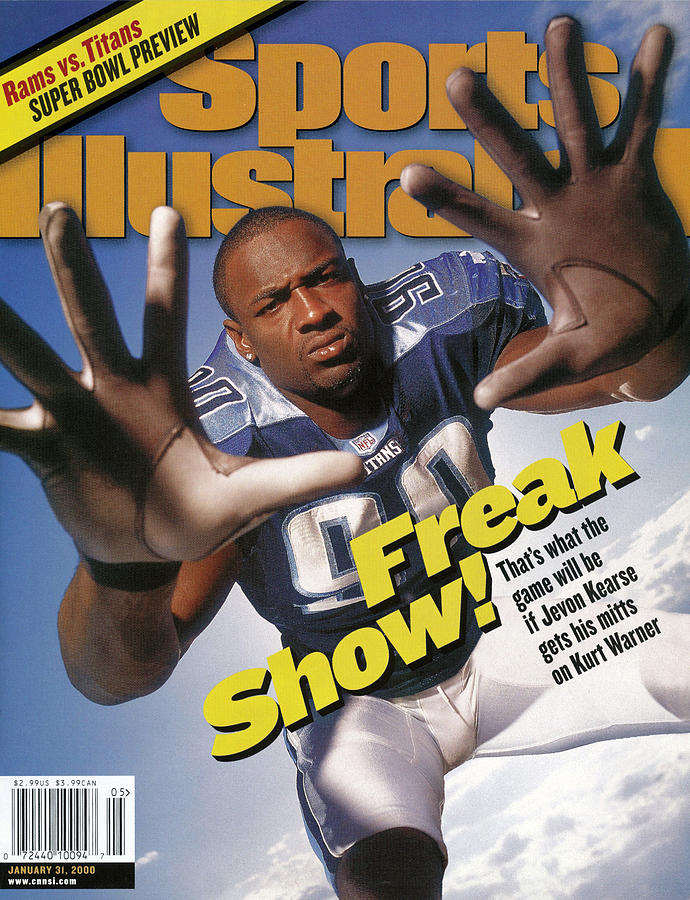 Tennessee Titans Jevon Kearse, Super Bowl Xxxiv Preview Sports Illustrated Cover Photograph by Sports Illustrated